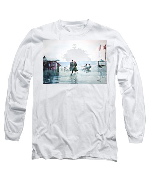 Long Sleeve T-Shirt featuring the painting Rain Serenad - Moments Of Life... by Faruk Koksal