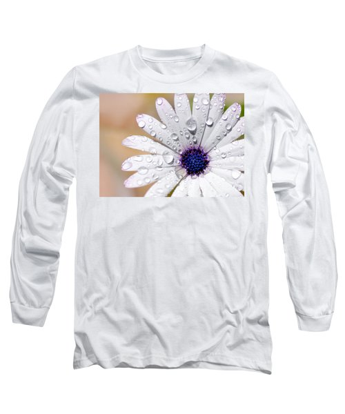 Rain Soaked Daisy Long Sleeve T-Shirt