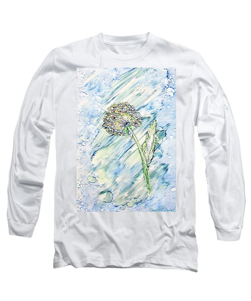 Rainbow And Blue Dandelion Alcohol Inks  Long Sleeve T-Shirt by Danielle  Parent
