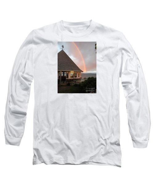 Rainbow At The Bath House Minister Island Nb Long Sleeve T-Shirt