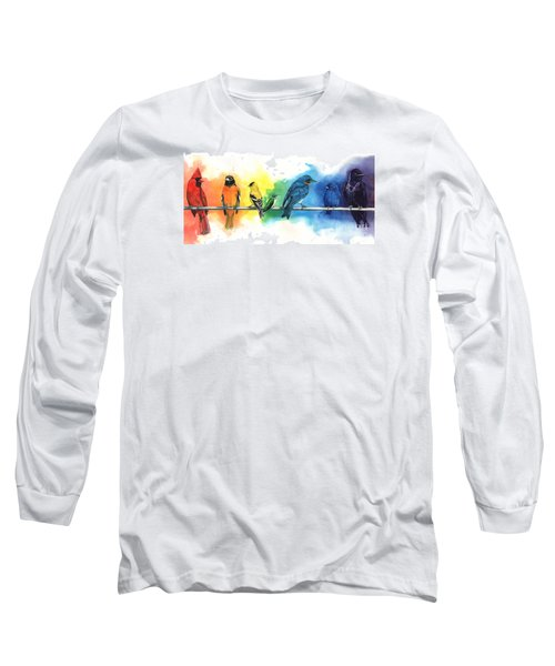 Rainbow Birds Long Sleeve T-Shirt
