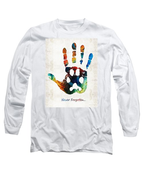 Rainbow Bridge Art - Never Forgotten - By Sharon Cummings Long Sleeve T-Shirt
