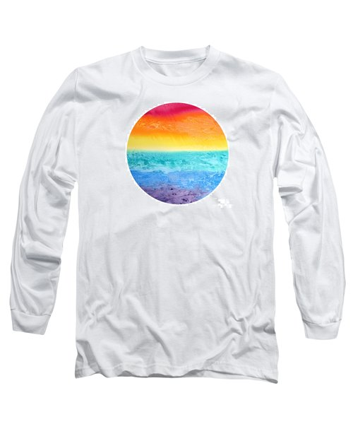Long Sleeve T-Shirt featuring the painting Rainbow Landscape  by Susan  Dimitrakopoulos