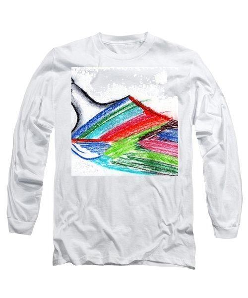 Rainbow Paintbrush Long Sleeve T-Shirt by Dan Twyman