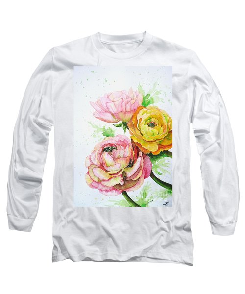 Ranunculus Flowers Long Sleeve T-Shirt