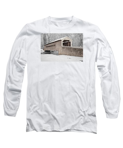 Rapps Bridge In Winter Long Sleeve T-Shirt by Michael Porchik