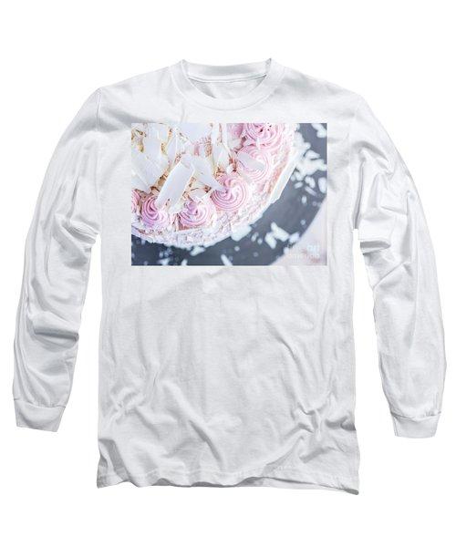 Raspberry White Chocolate Cake Long Sleeve T-Shirt