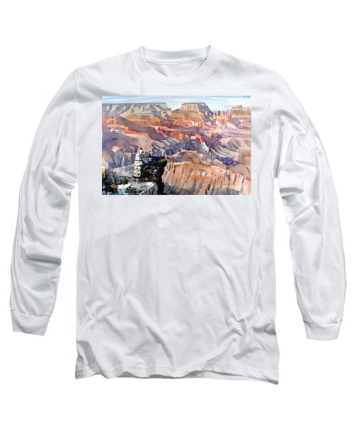 Long Sleeve T-Shirt featuring the painting Ravens by Donald Maier