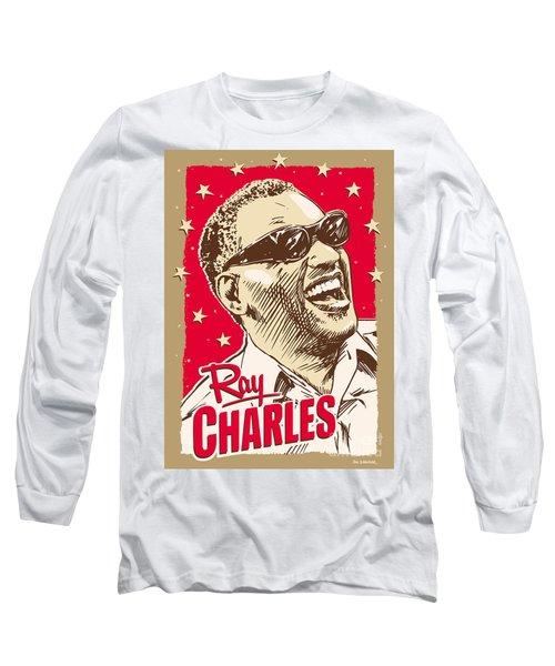 Ray Charles Pop Art Long Sleeve T-Shirt