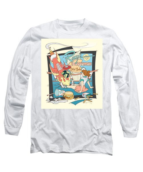 Ray's Drive-in - Brunette Long Sleeve T-Shirt