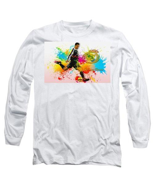 Real Madrid - Portuguese Forward Cristiano Ronaldo Long Sleeve T-Shirt