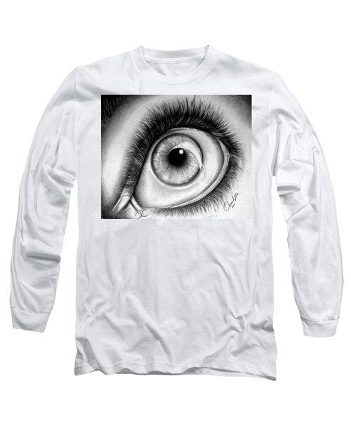 Realistic Eye Long Sleeve T-Shirt
