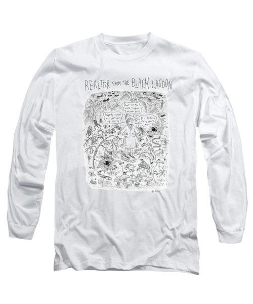 'realtor From The Black Lagoon' Long Sleeve T-Shirt