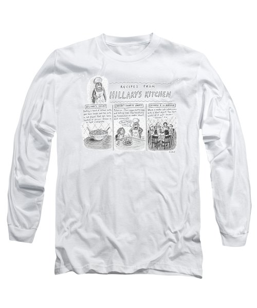 'recipes From Hillary's Kitchen' Long Sleeve T-Shirt