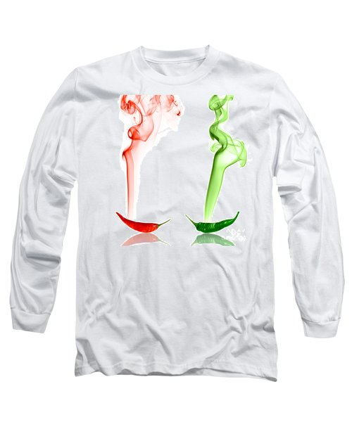 Red And Green Chili Smoke Photography Long Sleeve T-Shirt