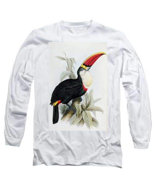 Red-billed Toucan Long Sleeve T-Shirt by Edward Lear