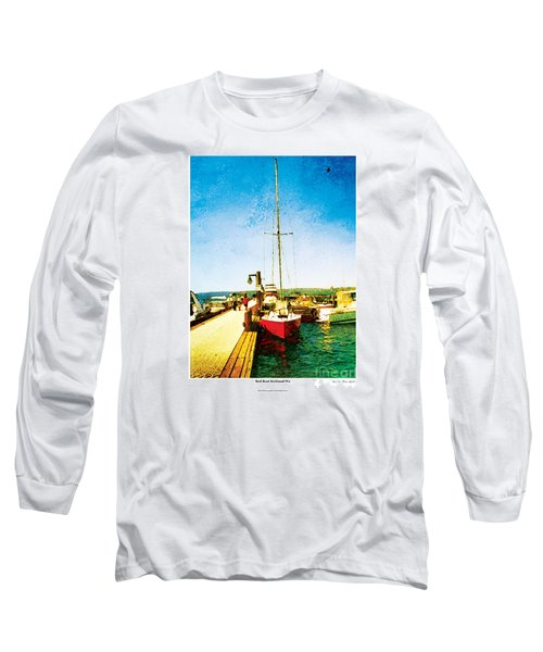Red Boat Long Sleeve T-Shirt by Kenneth De Tore