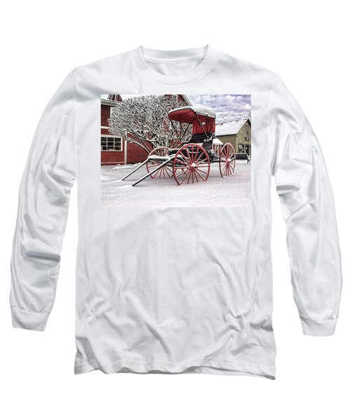 Red Buggy At Olmsted Falls - 1 Long Sleeve T-Shirt