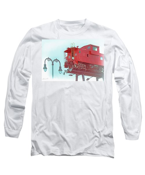 Red Caboose In The Sky2 Long Sleeve T-Shirt