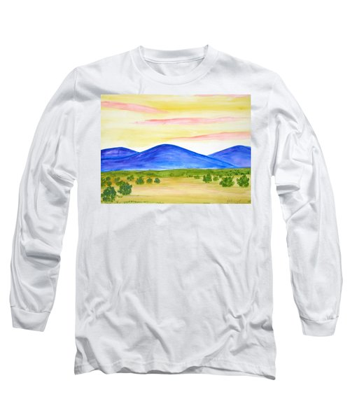Red Clouds Over Mountains Long Sleeve T-Shirt