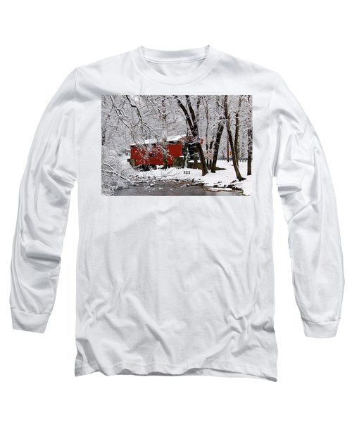 Red Covered Bridge Winter 2013 Long Sleeve T-Shirt