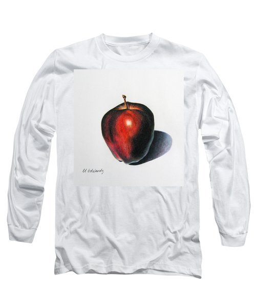 Red Delicious Apple Long Sleeve T-Shirt by Marna Edwards Flavell