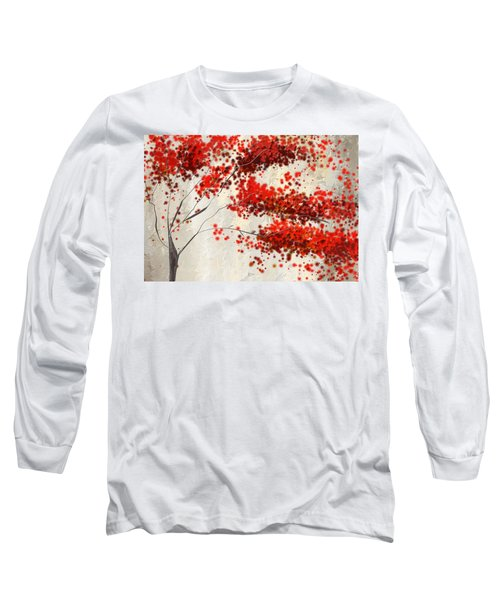 Red Divine- Autumn Impressionist Long Sleeve T-Shirt