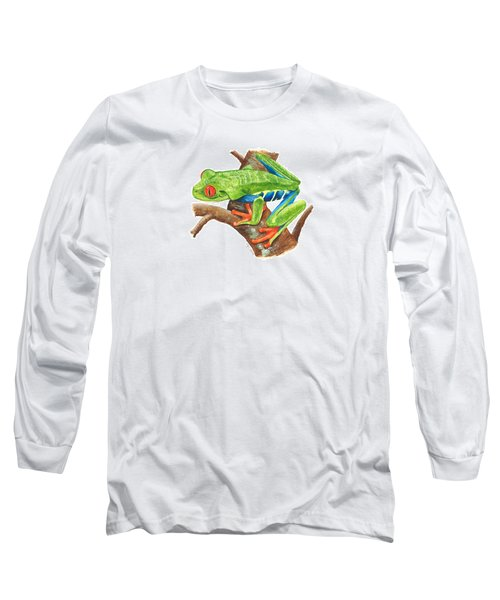 Red-eyed Treefrog Long Sleeve T-Shirt by Cindy Hitchcock