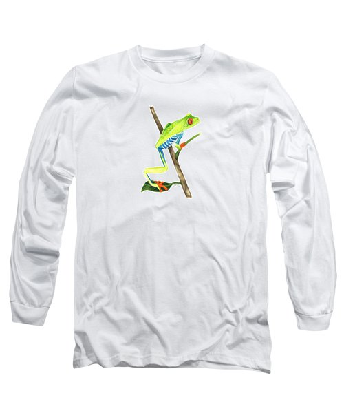Red-eyed Treefrog From La Selva Long Sleeve T-Shirt by Cindy Hitchcock