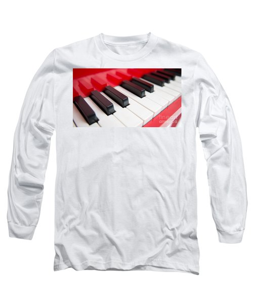 Long Sleeve T-Shirt featuring the photograph Red Piano by Yew Kwang