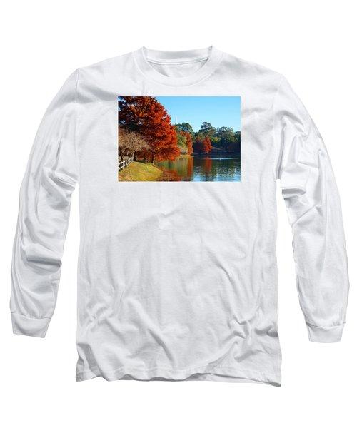 Red Pine On Lake Ella Long Sleeve T-Shirt
