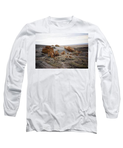 Red Rock Coulee II Long Sleeve T-Shirt by Leanna Lomanski