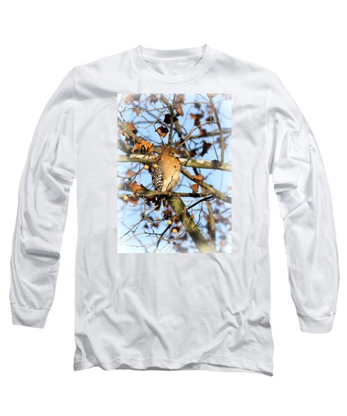 Red-shouldered Hawk - Img_7943 Long Sleeve T-Shirt by Travis Truelove