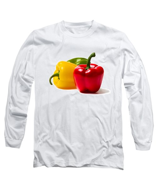 Red Sweet Pepper - Square Long Sleeve T-Shirt by Alexander Senin