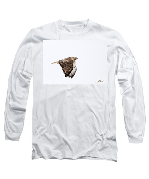 Red Tail In Flight Long Sleeve T-Shirt