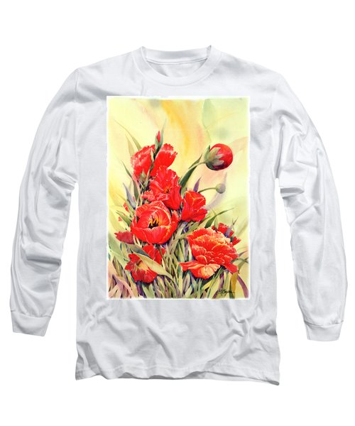 Red Tulips Long Sleeve T-Shirt