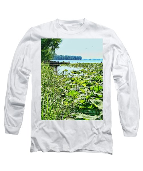 Reelfoot Lake Lilly Pads Long Sleeve T-Shirt by Bonnie Willis