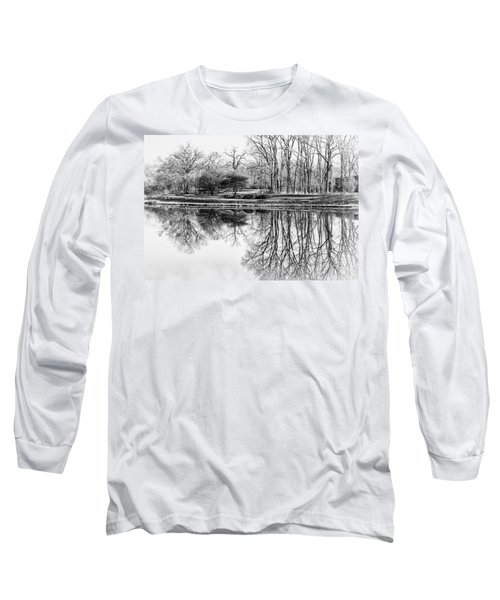Reflection In Black And White Long Sleeve T-Shirt
