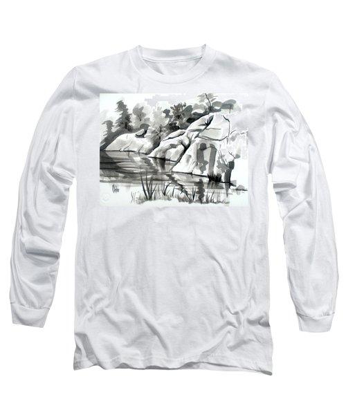 Reflections At Elephant Rocks State Park No I102 Long Sleeve T-Shirt
