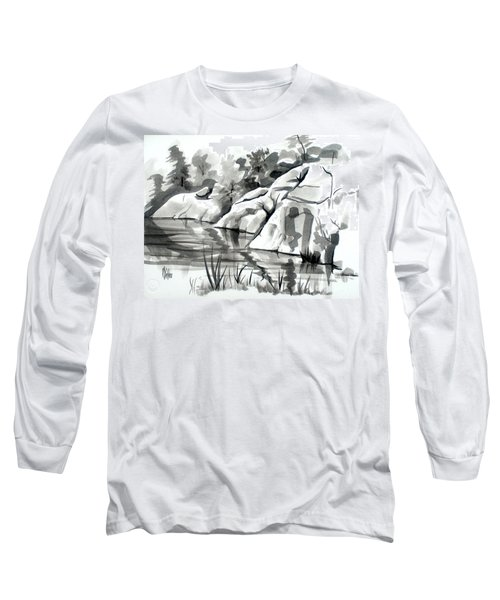 Reflections At Elephant Rocks State Park No I102 Long Sleeve T-Shirt