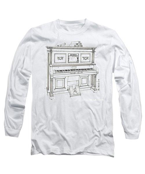 Regina Player Piano Long Sleeve T-Shirt by Ira Shander