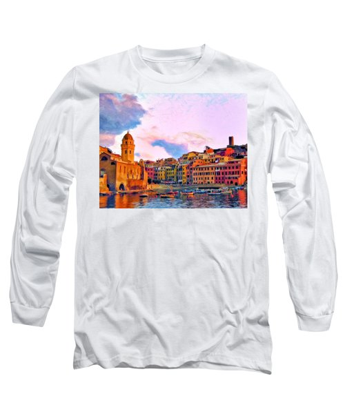 Relaxing Around Vernazza Long Sleeve T-Shirt