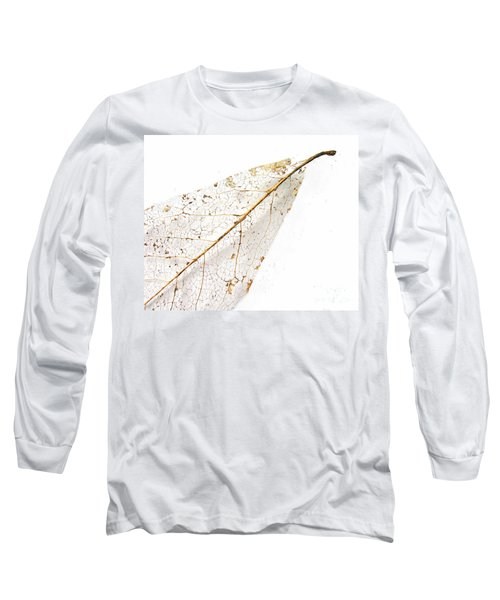 Long Sleeve T-Shirt featuring the photograph Remnant Leaf by Ann Horn
