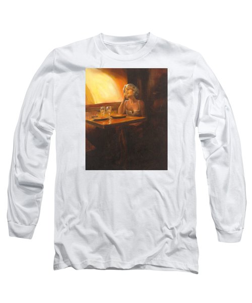 Rendevous At The Indian Restaurant Long Sleeve T-Shirt by Connie Schaertl