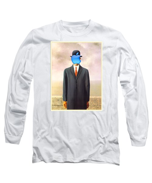 Rene Magritte Son Of Man Apple Computer Logo Long Sleeve T-Shirt