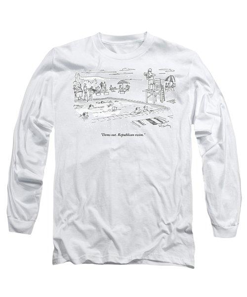 Republicans Swim Long Sleeve T-Shirt