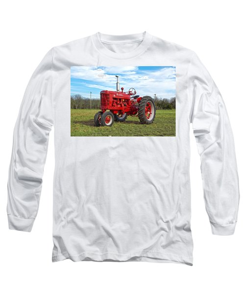 Restored Farmall Tractor Long Sleeve T-Shirt by Charles Beeler