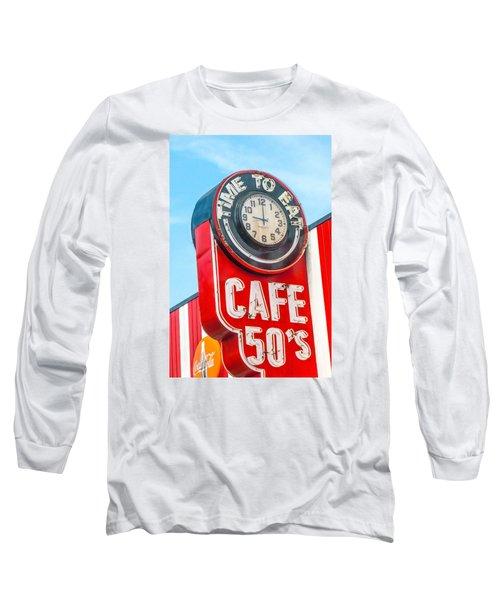 Retro Cafe Long Sleeve T-Shirt