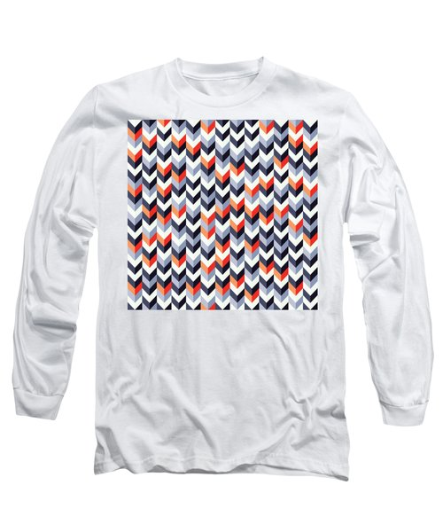 Retro Geometric Long Sleeve T-Shirt
