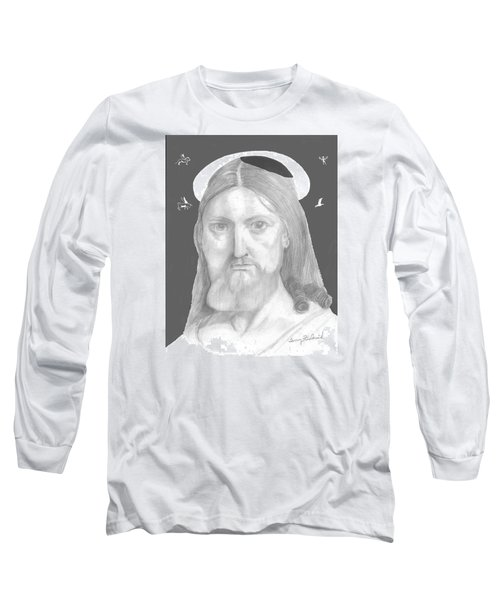 Long Sleeve T-Shirt featuring the drawing Revelations by Terry Frederick